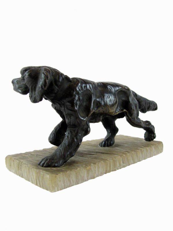 20th Century Bronze Dog Figure