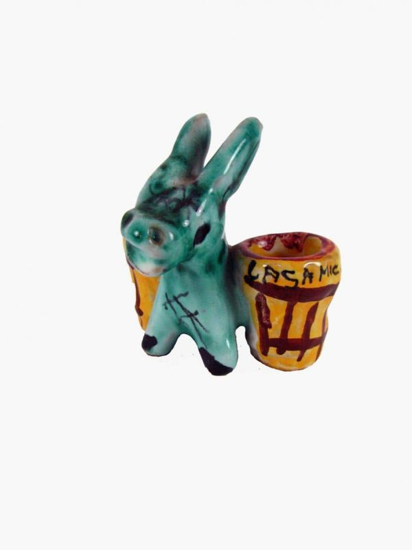 Italian Deruta Ceramic Donkey Figure