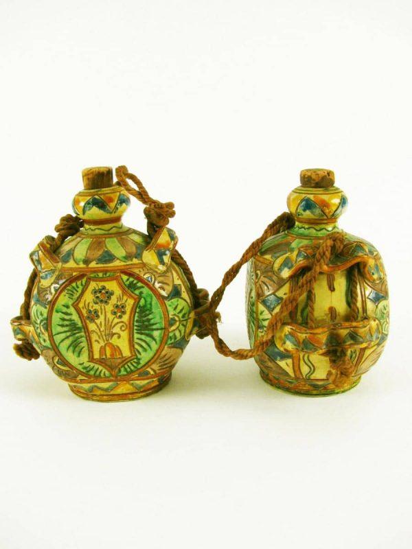 Pair of Italian Ceramic Flasks around 1950