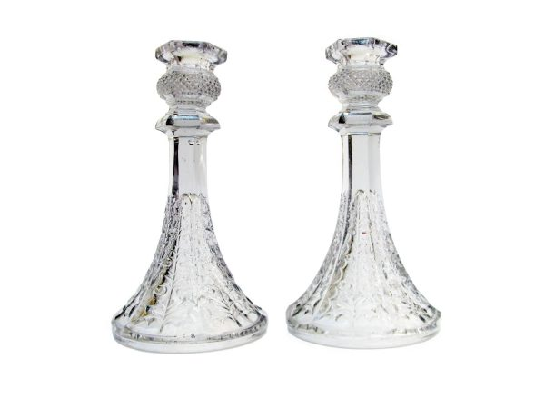 Pair of antique Crystal candlesticks