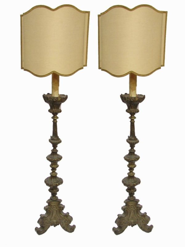 A Pair of 18th Century Candlesticks