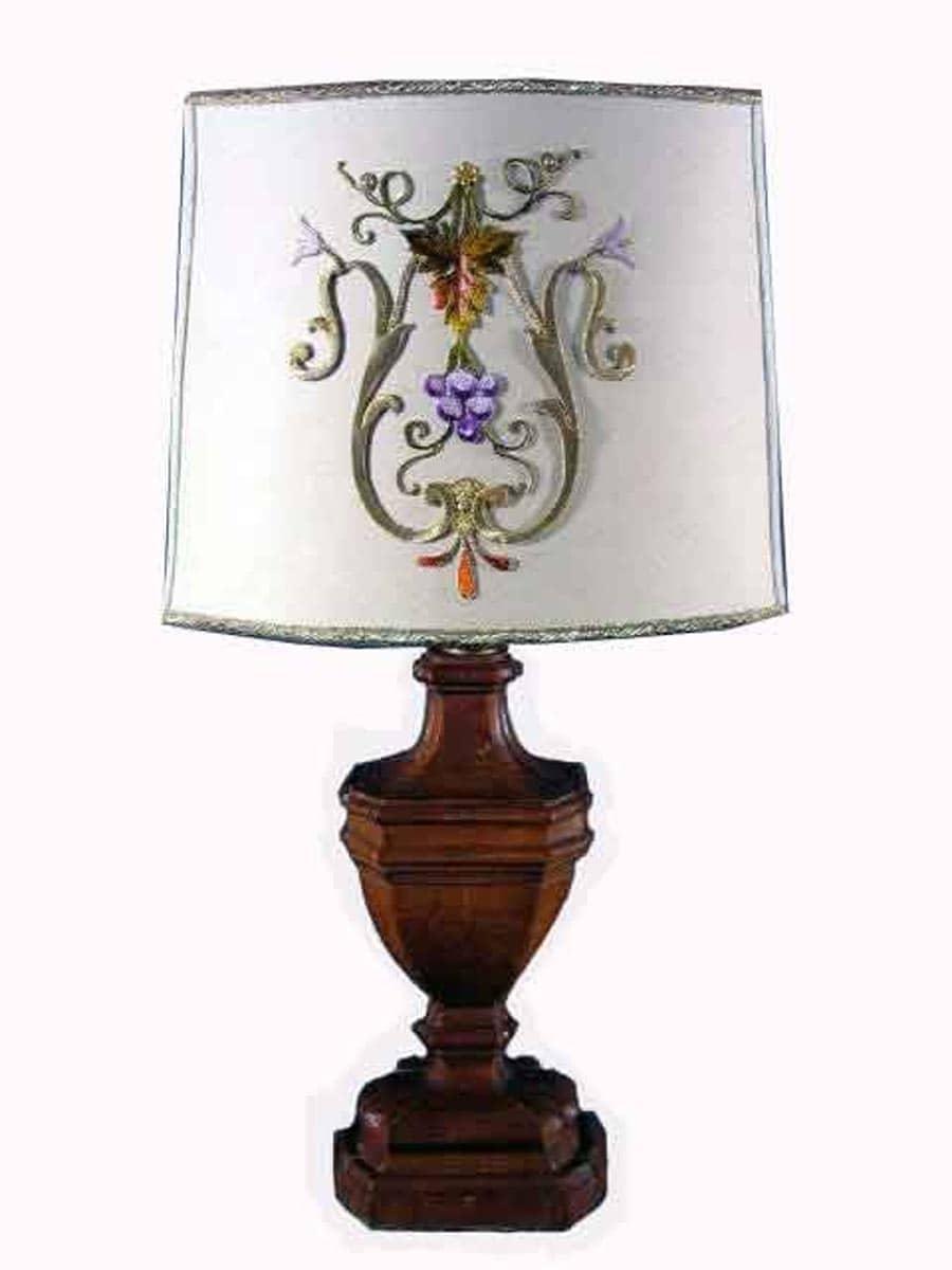 Coppia lampade legno con paralume ghilli antiquariato a - Lampade con legno ...