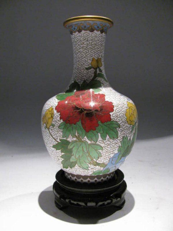 Pair of Chinese Cloisonne enamel Vases