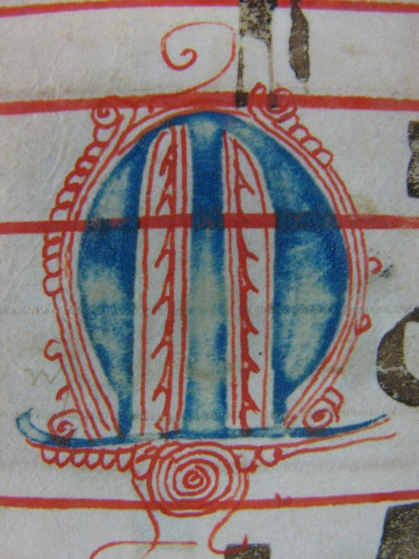 Italian Manuscript Parchment Leaf from a Choir Book