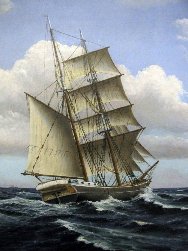 Framed Oil Seescape signed by the Danish Frederik Ernlund