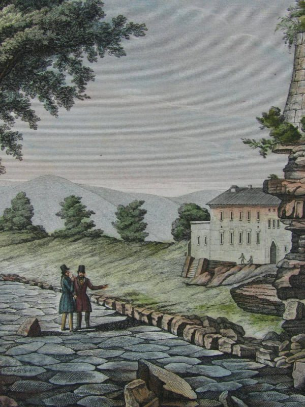 View of Via Appia, antique print.