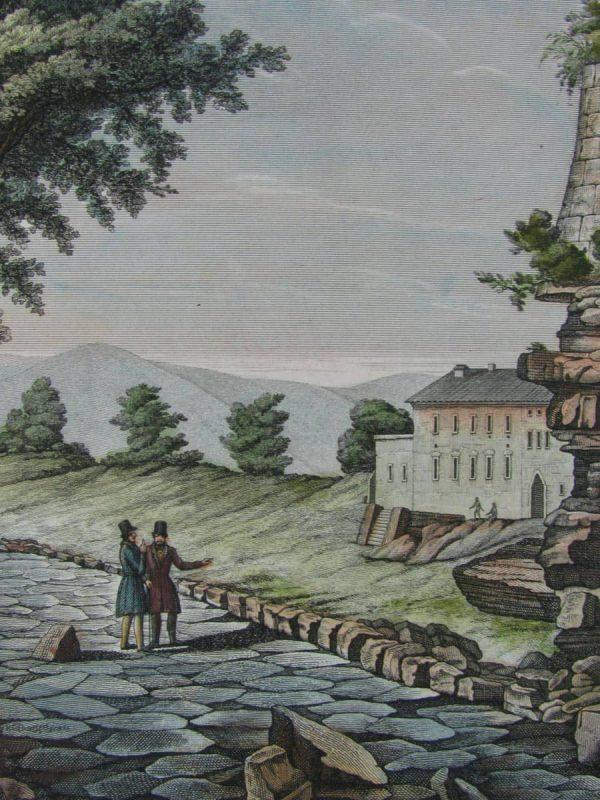 Giarrè  Veduta della via Appia  e del Sepolcro di Pompeo