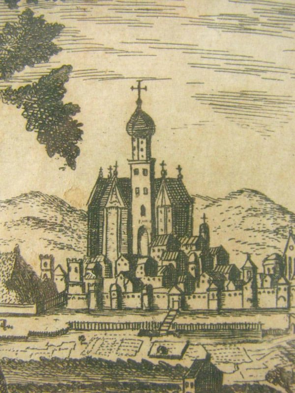 View of Augusta, antique print, 1740.