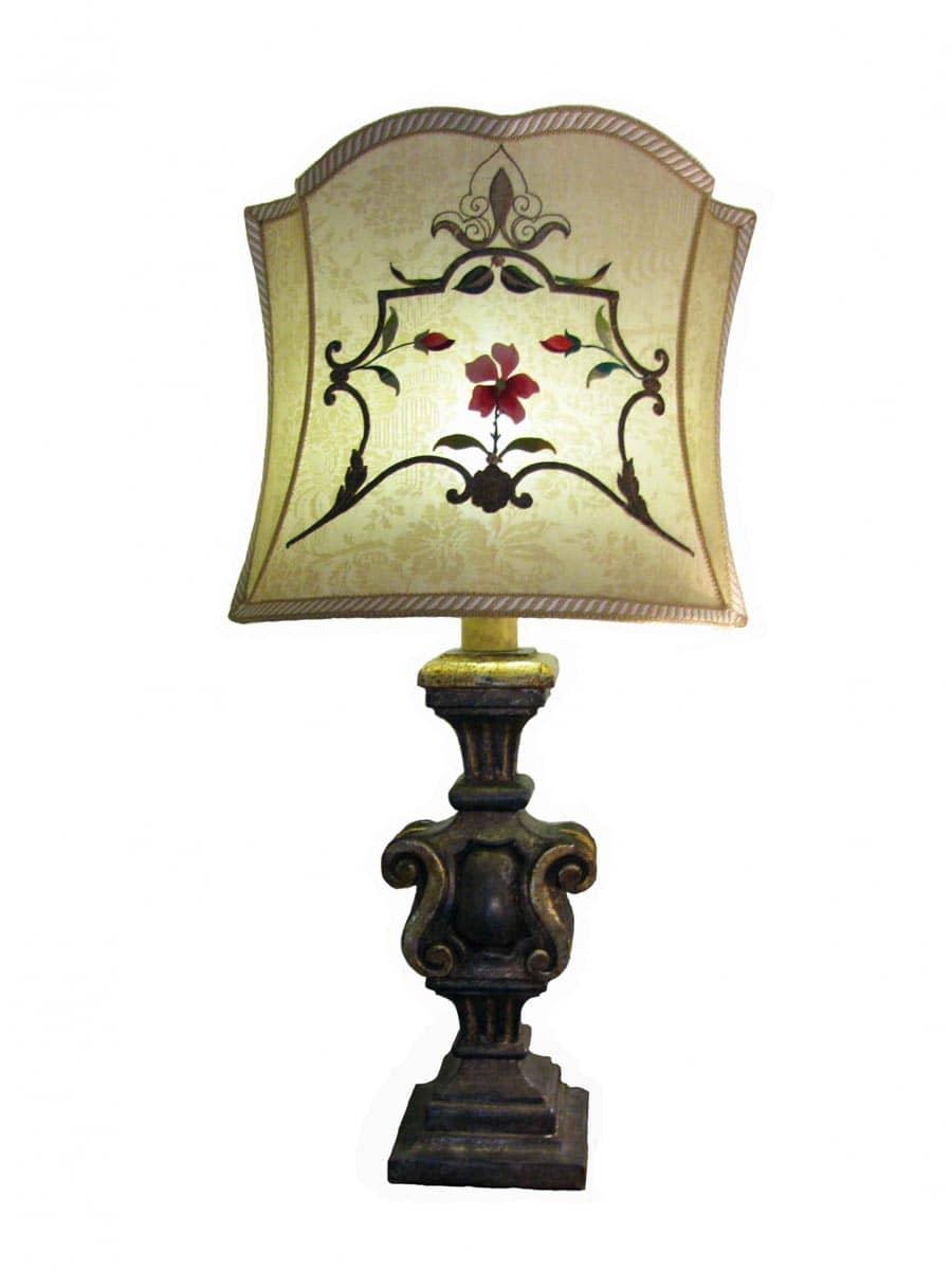 Lampada da tavolo con ricami antichi ghilli antiquariato - Ebay lampade da tavolo antiche ...