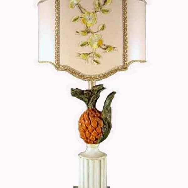 Lampada da tavolo legno policromo ghilli antiquariato a for Regalo tavolo milano