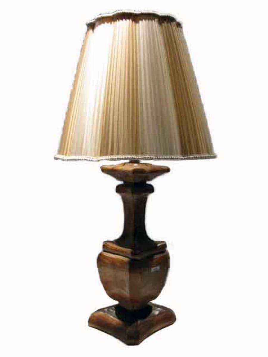 lampada legno ghilli antiquariato a milano
