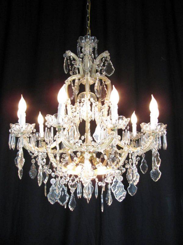 Italian Maria Terese Crystal 16 light Chandelier around 1950
