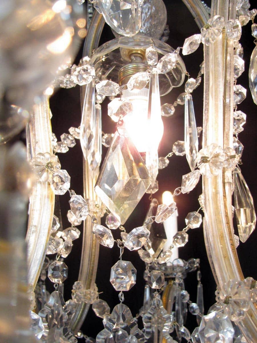 Lampadario antico in cristallo Maria Teresa 9 luci -> Lampadario Antico Maria Teresa
