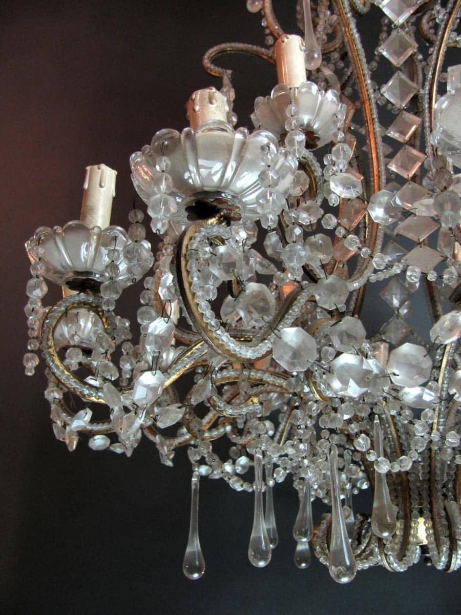 Lampadari In Cristallo Di Boemia Antichi.Lampadario Antico In Cristallo Di Bohemia 18 Luci Vendita