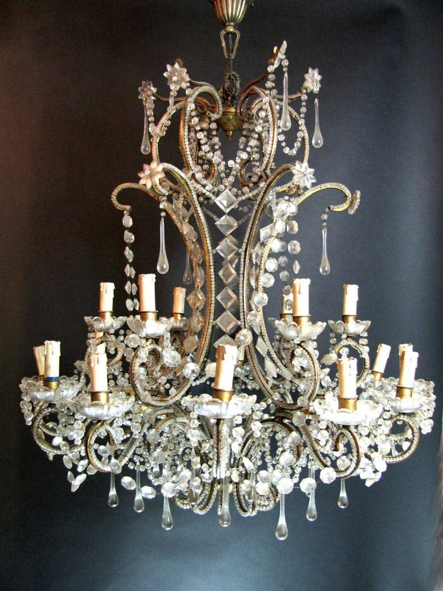 Pulizia Lampadari Di Cristallo.Lampadario Antico In Cristallo Di Bohemia 18 Luci Vendita