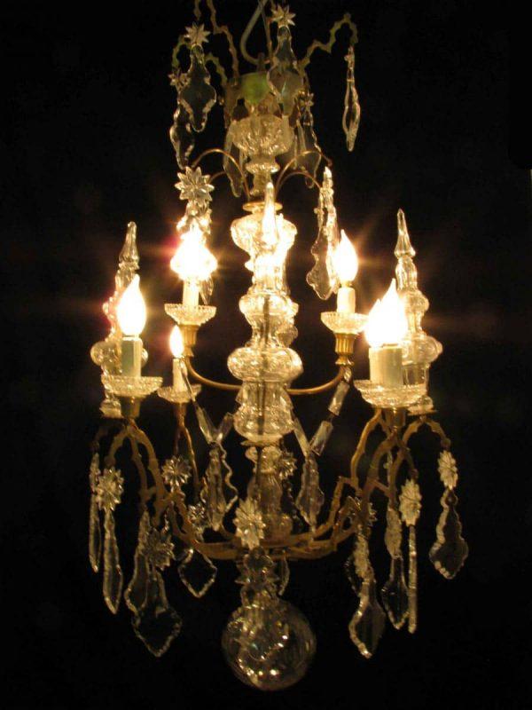 Lampadario antico in cristallo del 1800