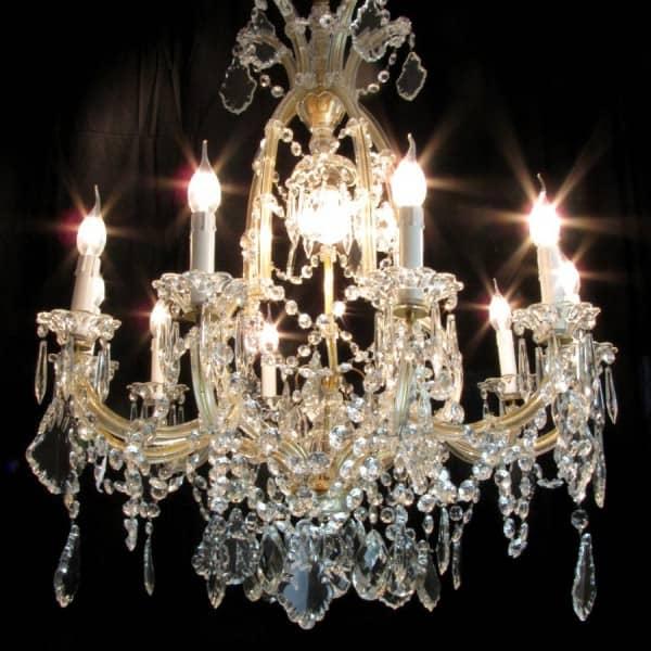 Lampadari Di Cristallo Di Boemia.Lampadario In Cristallo Di Boemia Maria Teresa 11 Luci