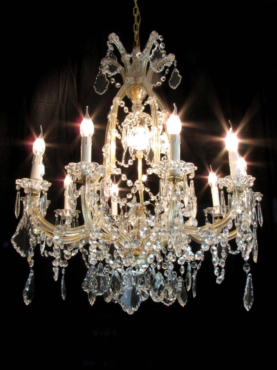 lampadario in cristallo di boemia maria teresa 11 luci