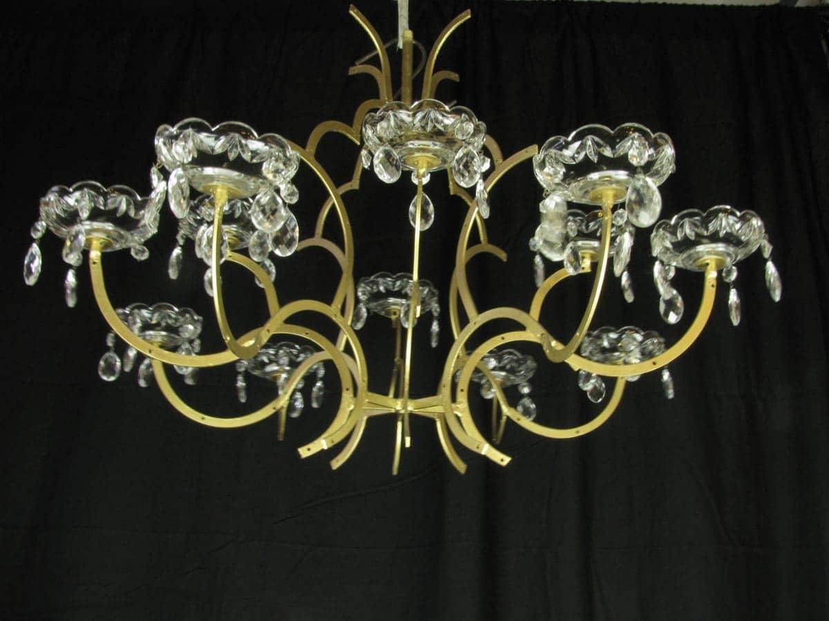 Lampade Cristallo Di Boemia : Lampadario in cristallo di bohemia maria teresa luci ghilli
