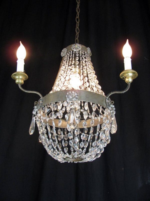 A Small Louis XVI 3 armed Chandelier