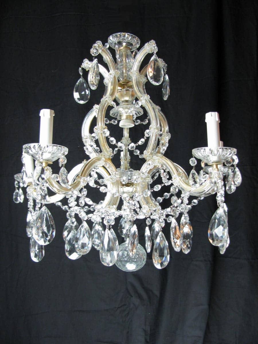 installazione di lampadario a 6 luci in cristallo di ferro ...