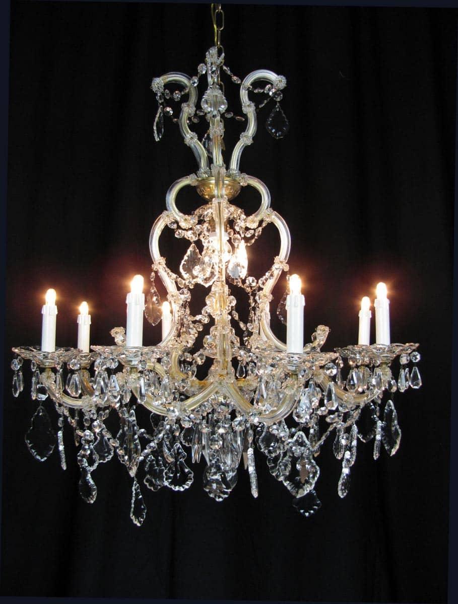 Italian antique cut glass chandelier around 1950 ghilli antiques italian antique cut glass chandelier around 1950 arubaitofo Gallery