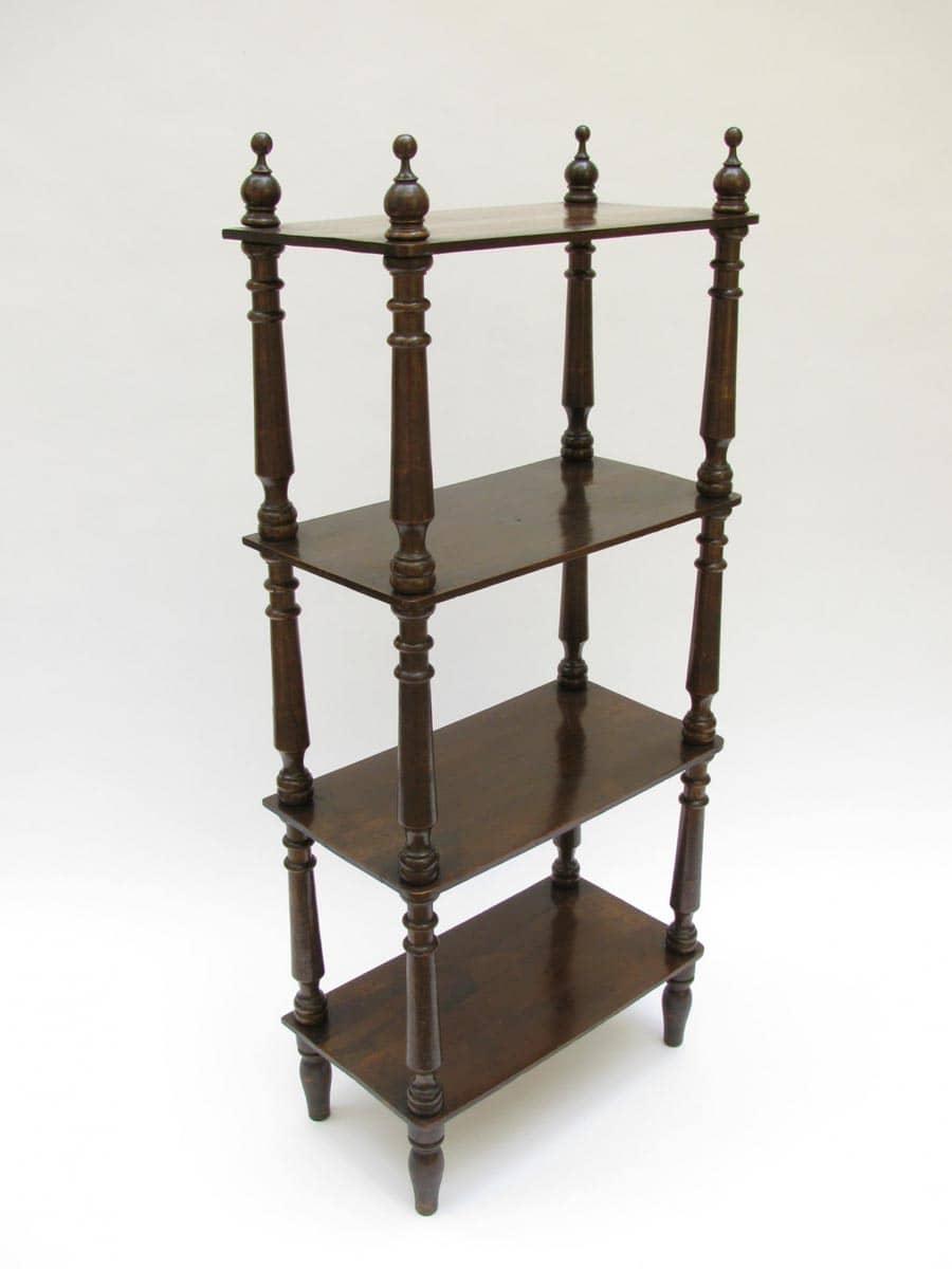 Libreria etagere in noce a quattro ripiani del 1800 in for Regalo mobili antichi
