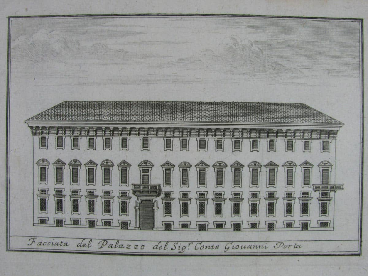 View of Porta Palace in Milan, Antique print around 1800 - Ghilli ...
