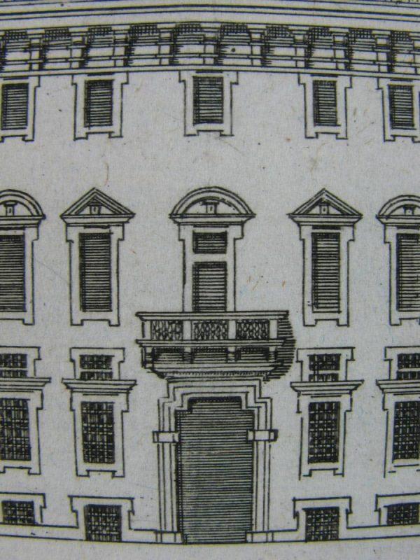 View of Porta Palace in Milan, Antique print around 1800