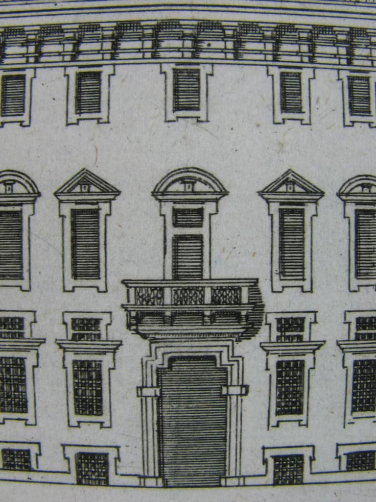 View of Porta Palace in Milan, Antique print around 1800