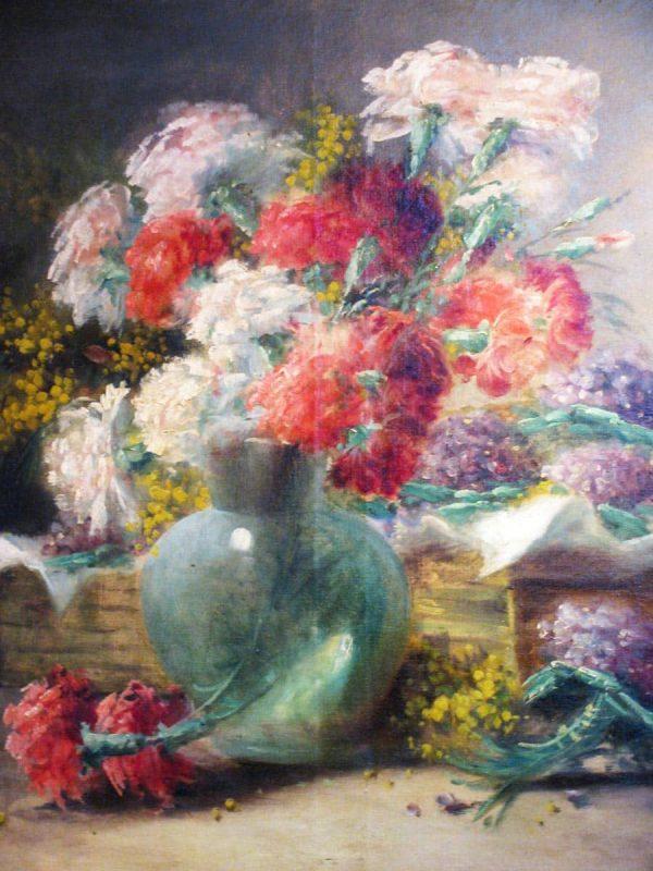 19th century still-life of flowers painting