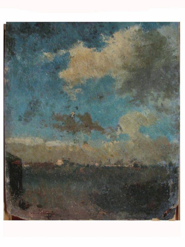 19th Century Italian Landscape by Achille Vertunni (Napoli 1826  Roma 1897)