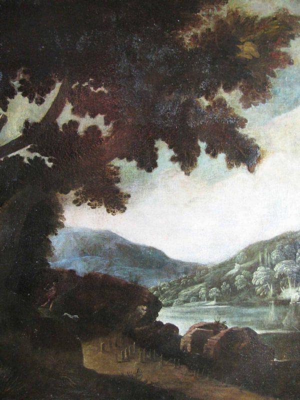 Paesaggio con Figure Scuola Lombarda Inizi secolo XVIII