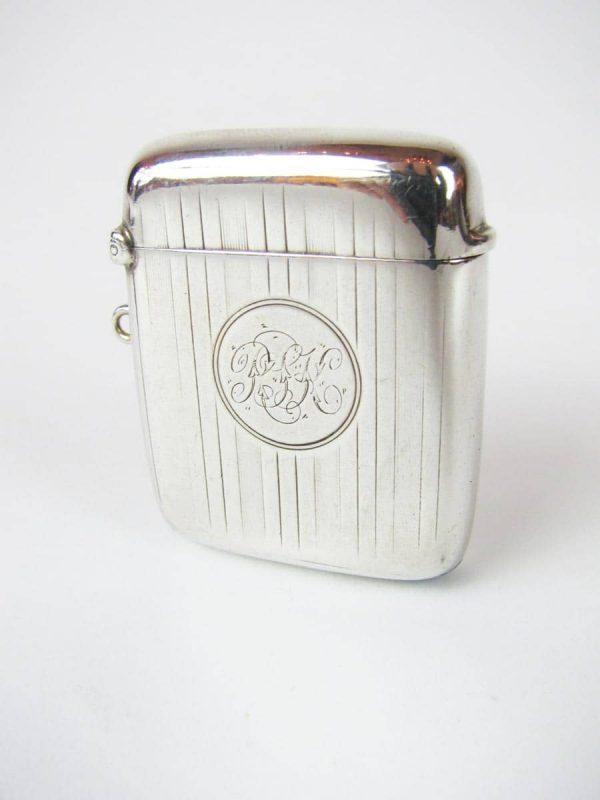 Portafiammiferi da tasca in argento
