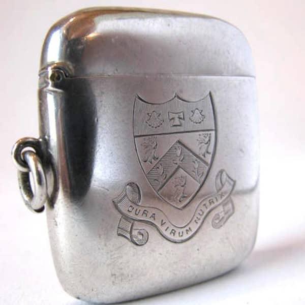 Silver pocket matchbox