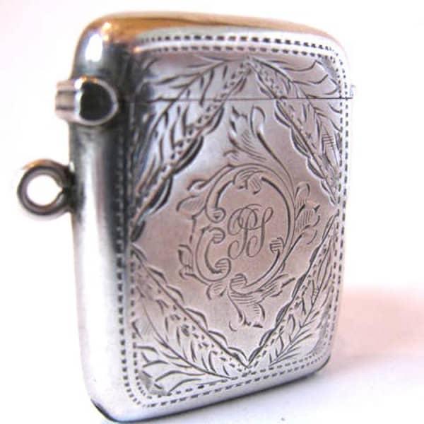 Portafiammiferi da taschino argento