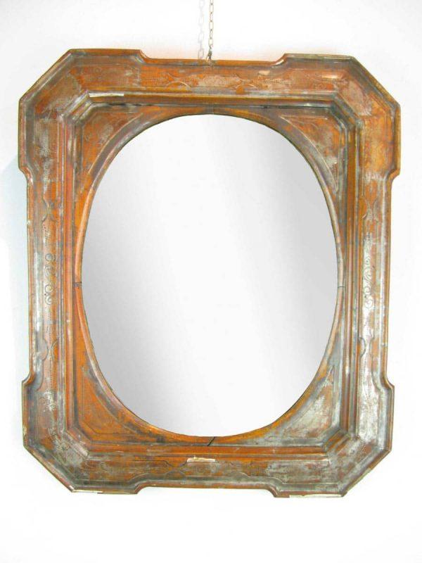 Antique Italian Silvered wood Mirror