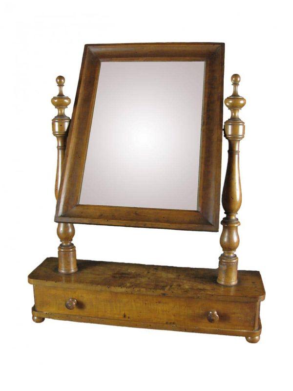 19th Century Italian Walnut Dressing Table Mirror