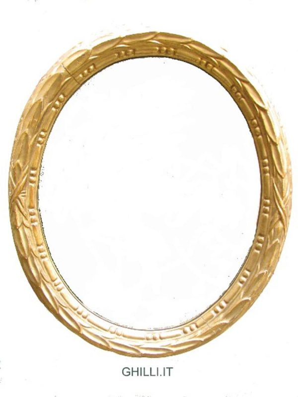 20th Century Oval Giltwood Frame