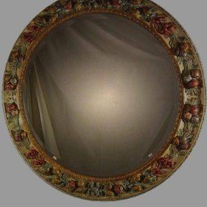 specchiera-tonda-legno-intagliato-policromo-moderna-876