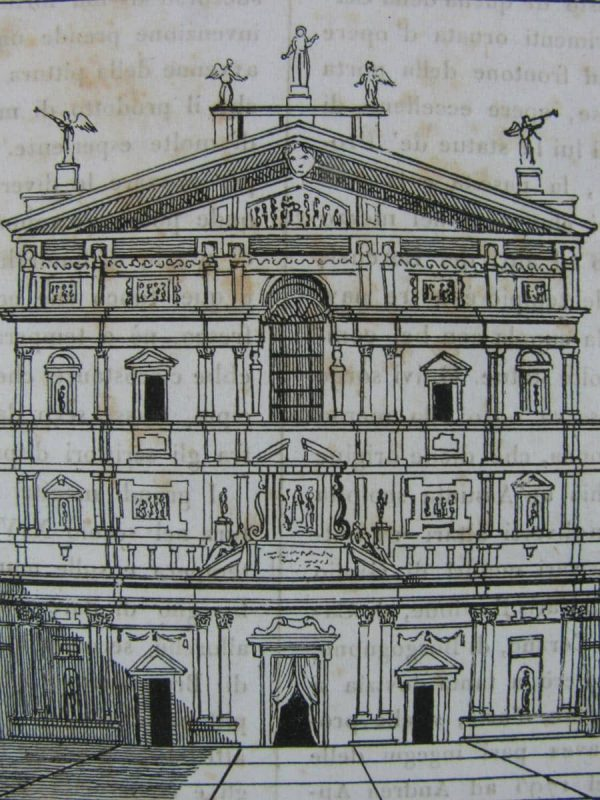 View of San Celso church in Milano – Antique Print
