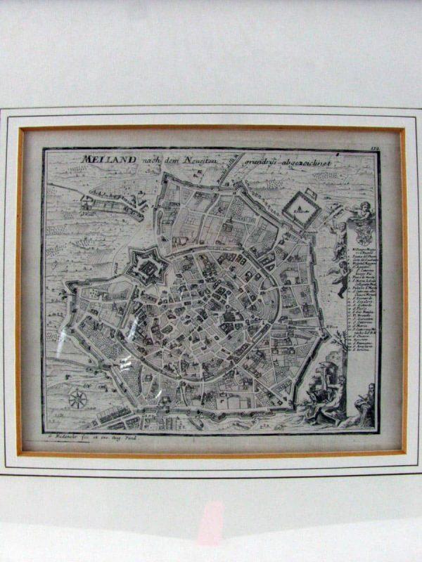 Plan of Milan – Antique Print