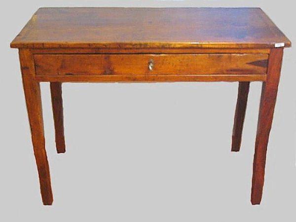 Tavolino scrittoio con cassetto noce anni 50