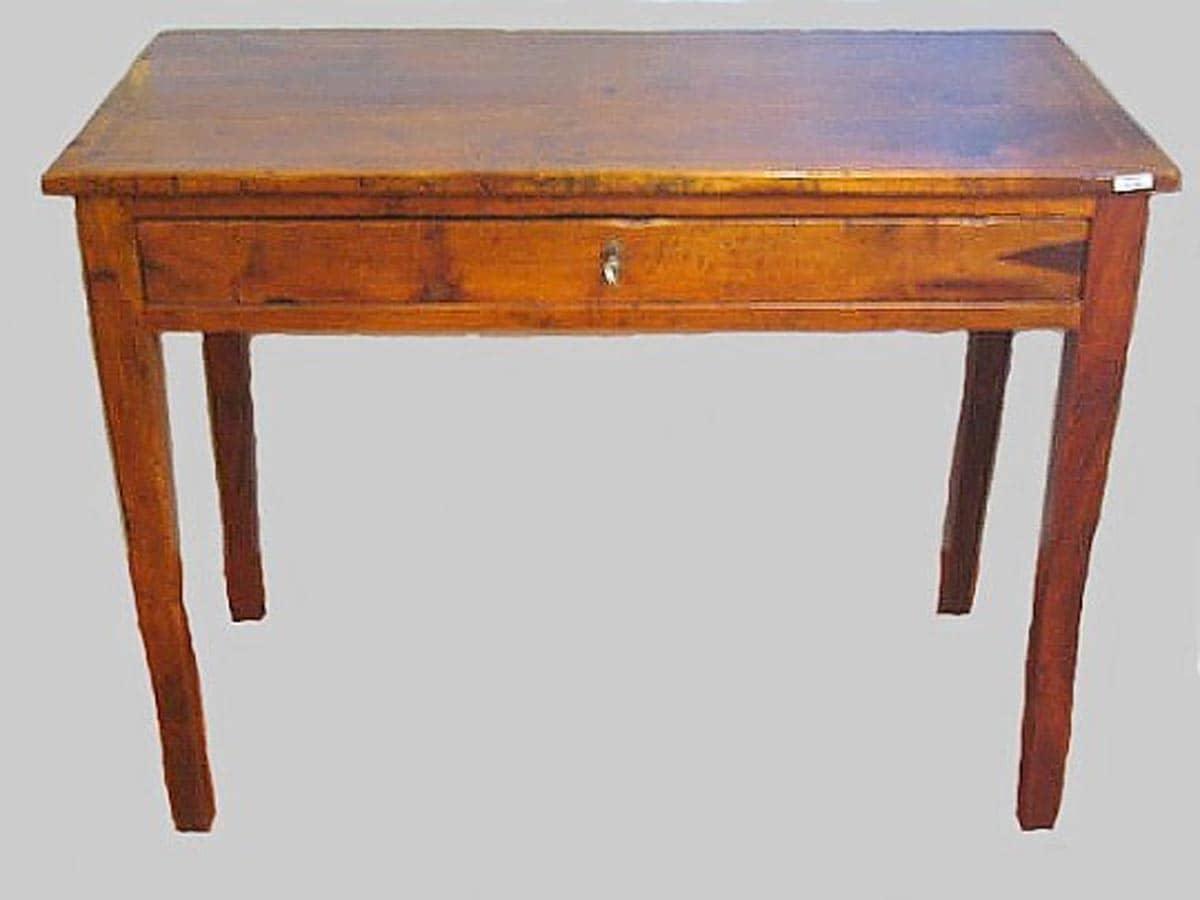 Tavolino scrittoio con cassetto noce anni 50 ghilli for Regalo mobili antichi
