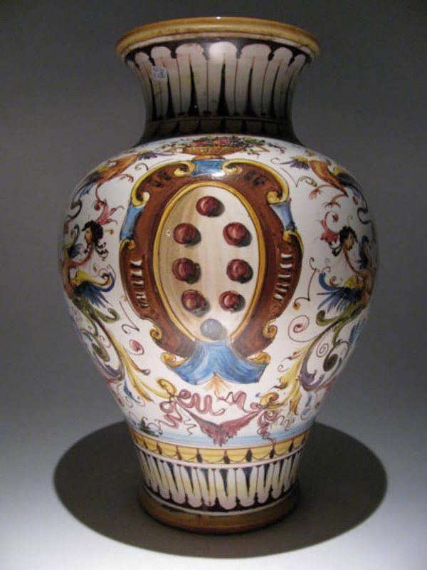 Vaso Ceramica Policroma Toscana
