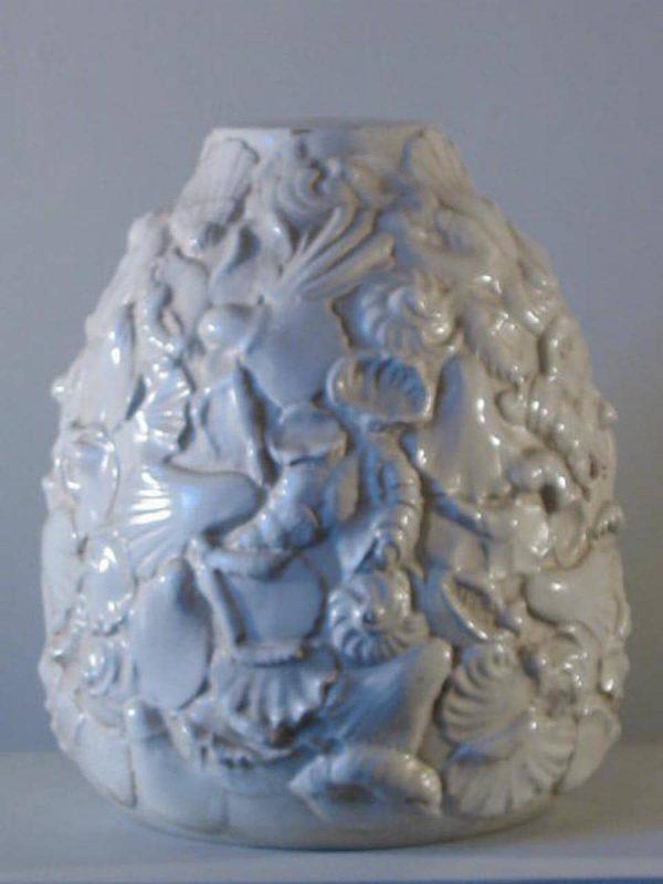 Vaso in ceramica per lampada da tavolo