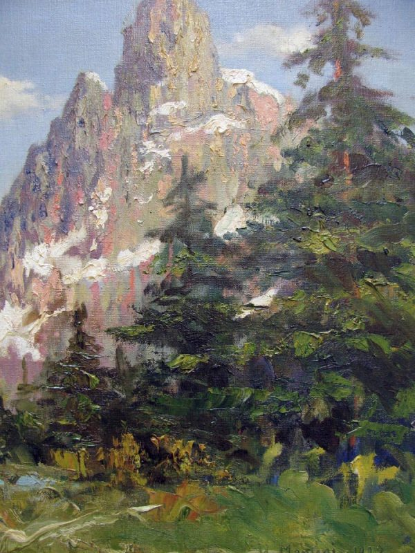 Italian Mountain Landscape signed and dated Umberto Montini 1927