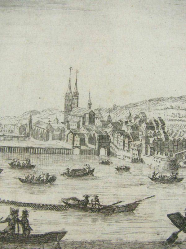 View of Zurigo – antique print