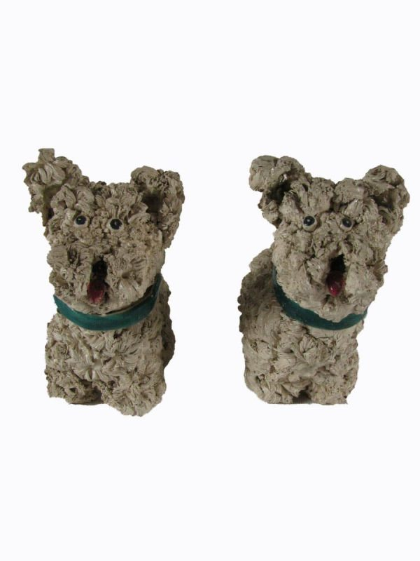 Pair of Earthenware Welsh Terrier Dogs