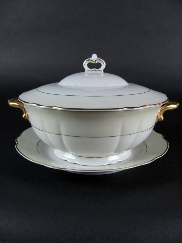 1950's Verbano Porcelain Tureen with Cover and plate